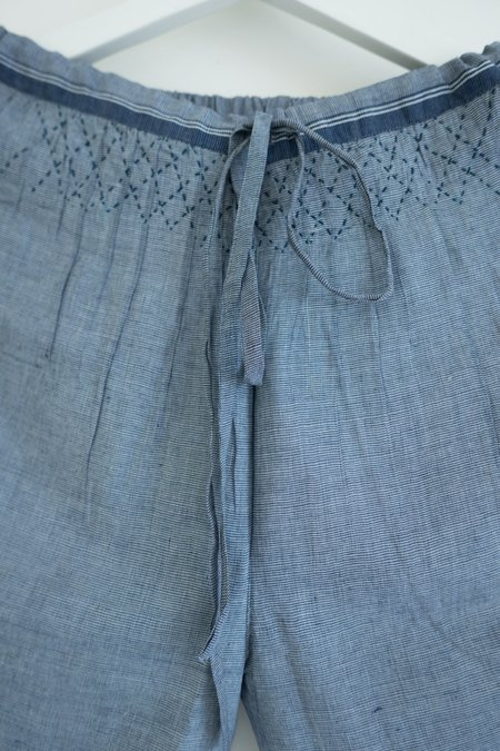 Karu Smocked Khadi Cotton Drawstring Trousers