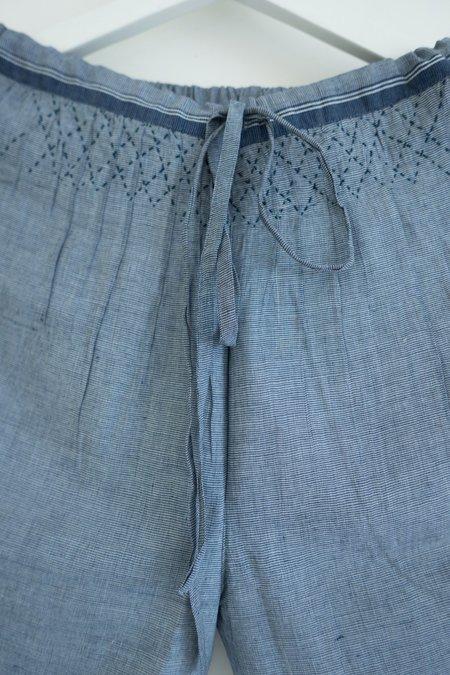 Karu Smocked Drawstring Khadi Cotton Trousers