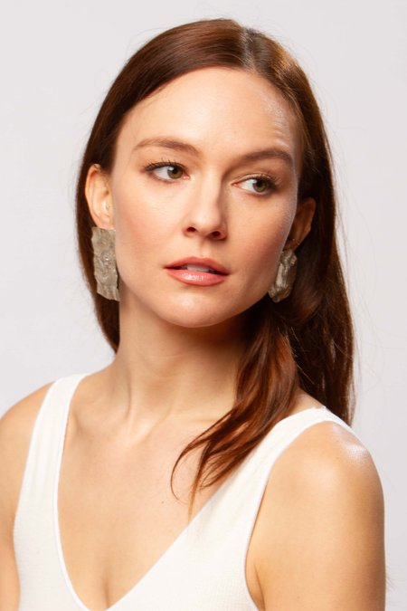 JULIE THÉVENOT Small calanc earrings - silver