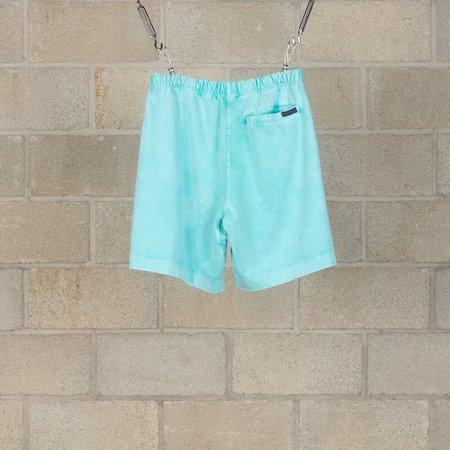 N.Hoolywood Acid Washed Shorts - Turquoise