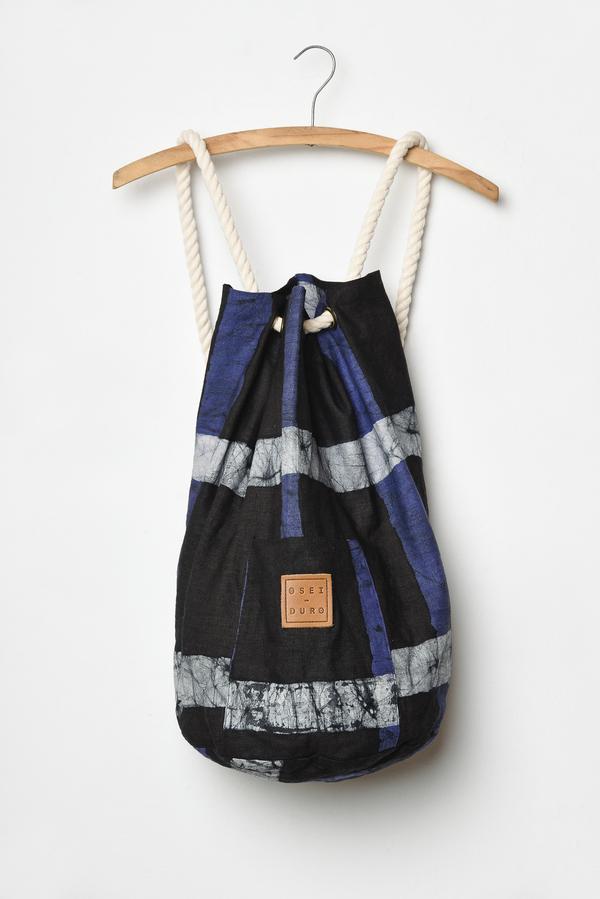 Osei-Duro Onere Backpack in Cobalt Grid