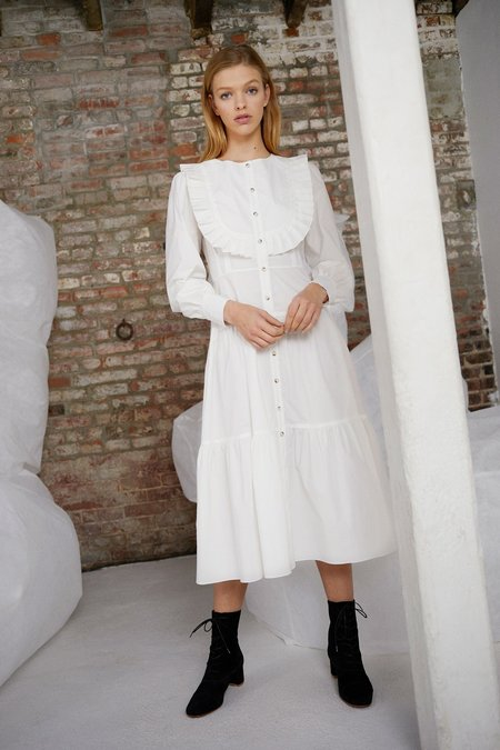 WHiT Barrett Dress - White Poplin