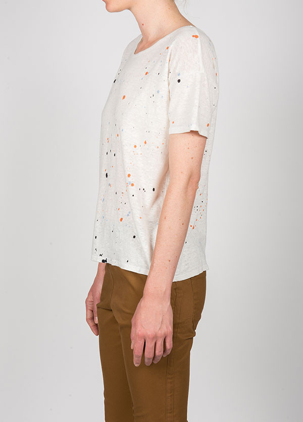 Kain Label - Cleo Tee in Tri Color Splatter Paint