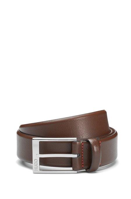 Hugo Boss Gellot Grainy Leather Dress Belt - Brown