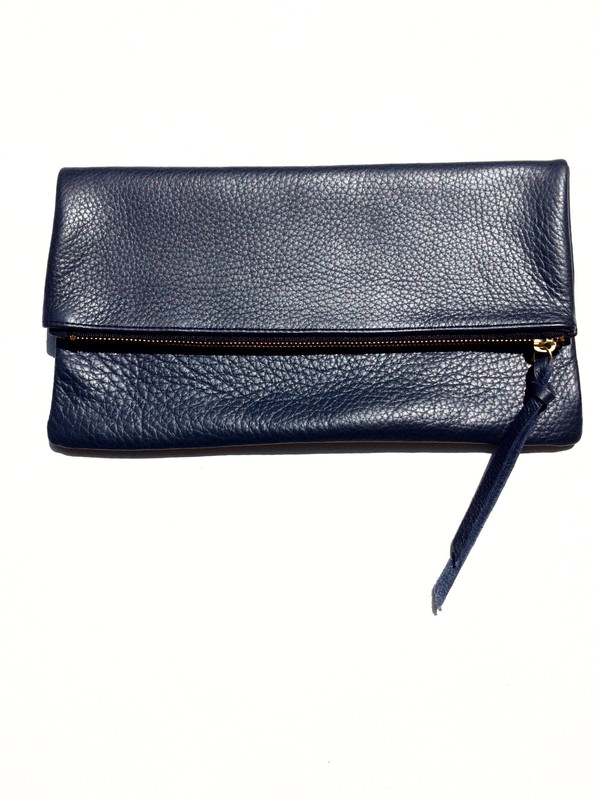 OLIVEVE anastasia in navy pebbled cow leather