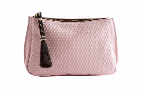 OLIVEVE summer pouch in pink divot cow leather