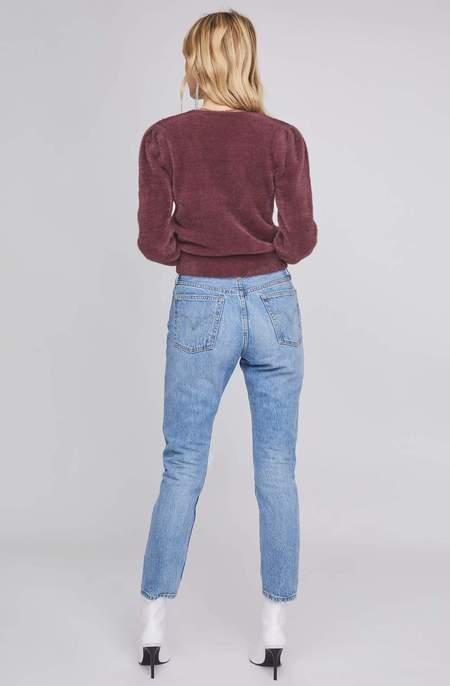 ASTR The Label Sheresa Fuzzy Wrap Sweater - Plum