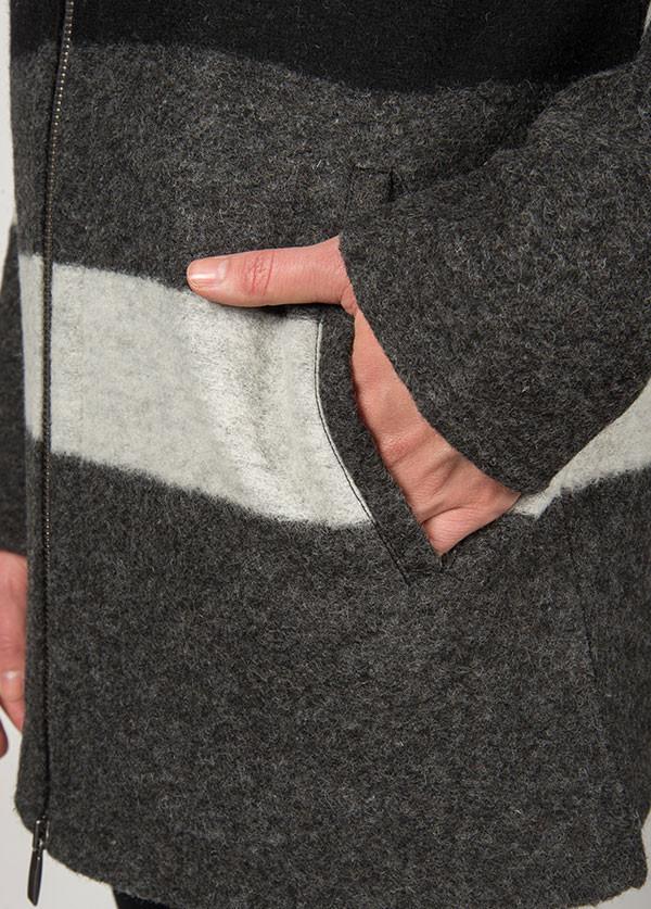 Line Knitwear - The Landmark in Charcoal Stripe