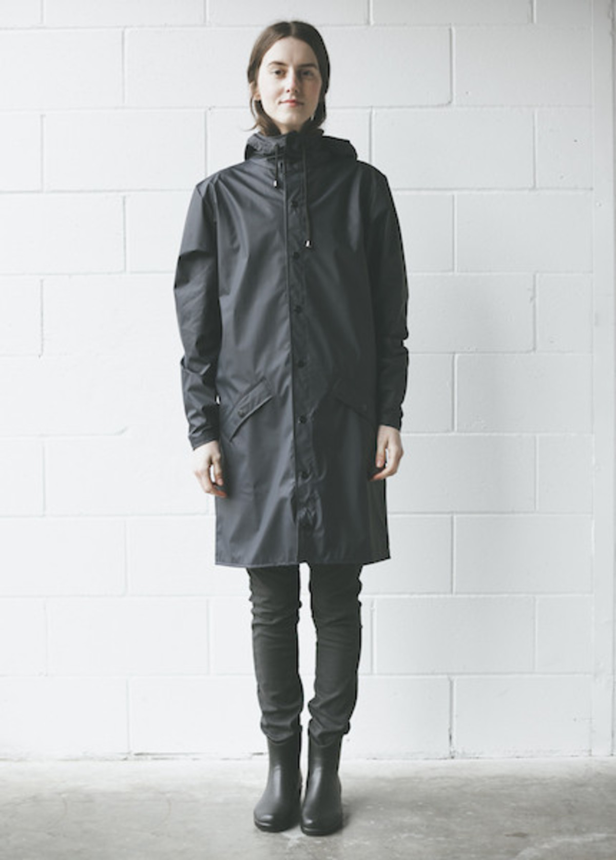 Rains - Long Jacket in Blue | Garmentory