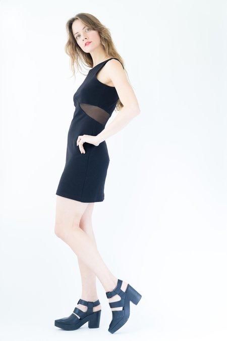 Backtalk PDX Vintage Holiday Cutout Dress - Black