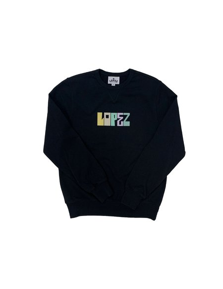 Lopez Recycled Crewneck - Black
