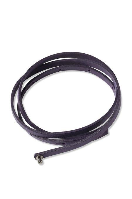 Oyuna Tibi Leather Throw Belt - Amethyst