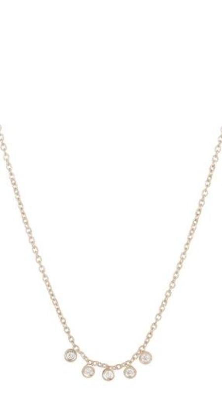 Ariel Gordon Mini Diamond Dash Necklace - 14K Gold