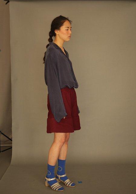 Unisex DANSHAN Padded Sculpture Shorts - Burgundy