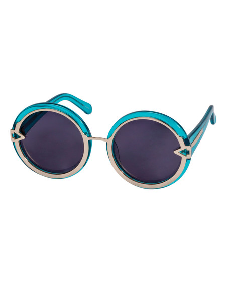Karen Walker Orbit in Crystal Turquoise