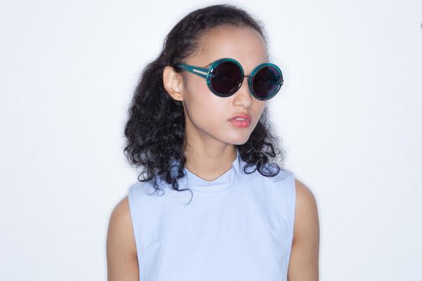 Karen Walker Orbit in Crystal Turquoise
