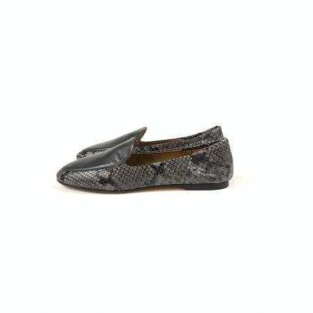 Pomme D'Or snake leather loafer - grey