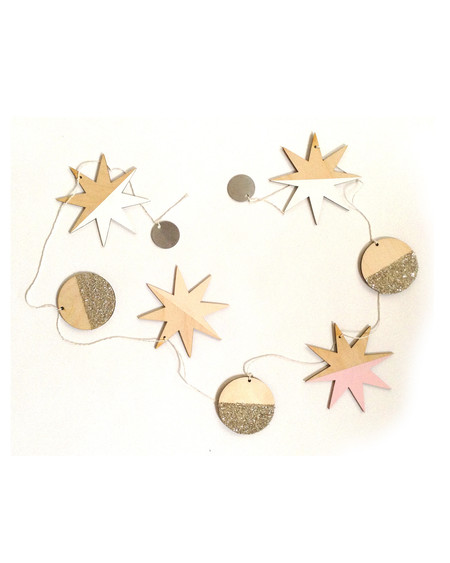 The Great Lakes Goods Stars and Full Moons Large Garland
