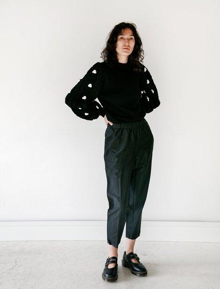 Comme des Garçons Classic Crinkle Drawstring Pants - Black