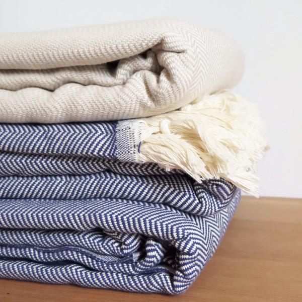Sunday Dry goods Zigzag Throw Blanket