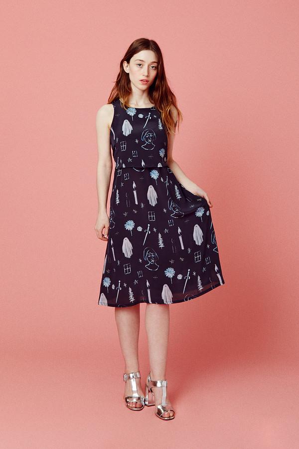 Samantha Pleet Nightfall Dress - Premonition Print