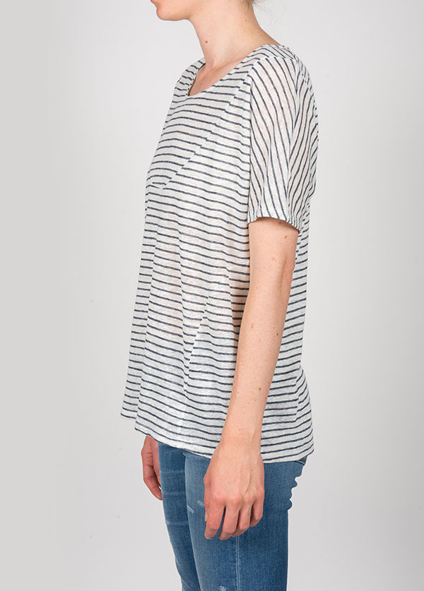 Objects Without Meaning - Basia Tee in Chalk Stripe