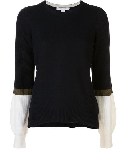 Duffy Bell Sleeve Sweater - Navy/Olive