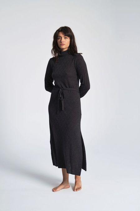 Le Mont St. Michel Diamond Knit Dress - Grey