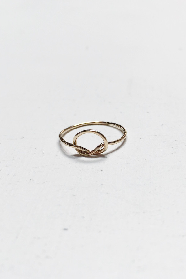 Bario Neal Knotted Rush Ring - 14k Yellow Gold