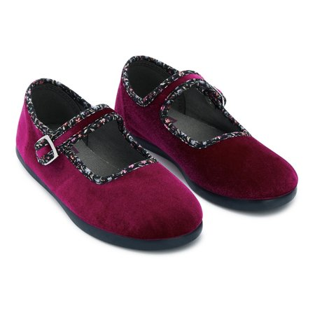 KIDS bonton mary jane buckle slippers - rose