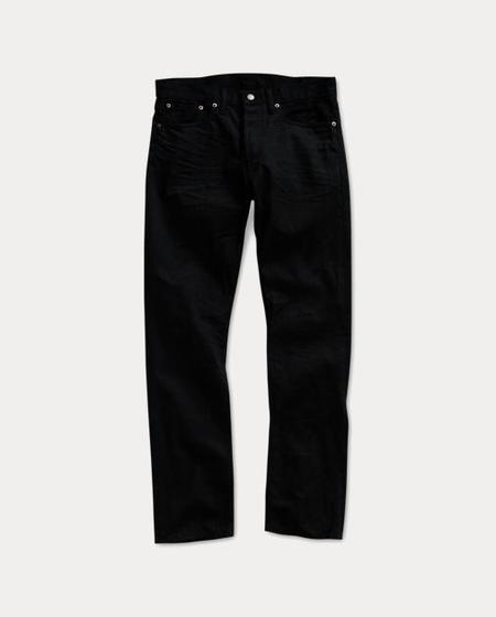 RRL Slim Fit Selvedge Denim Jeans - Black on Black