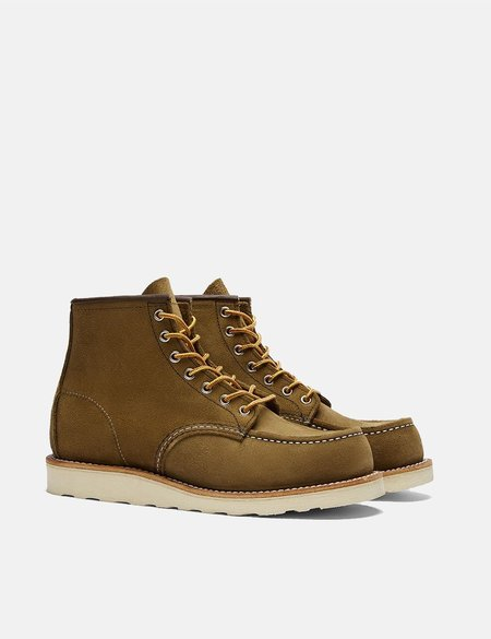 Red Wing Moc Toe Work Boot - Olive Green Mohave