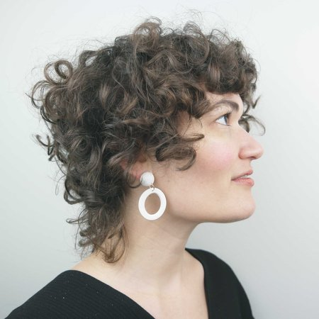 Soft Corner Ines Earrings - Creme