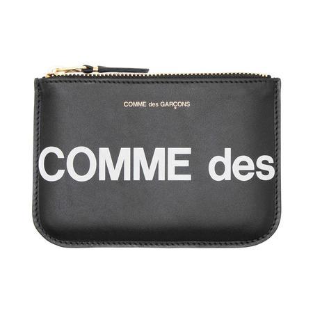 COMME des GARCONS Huge Logo Pouch Wallet - Black