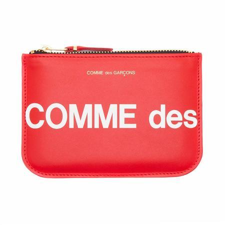 COMME des GARÇONS Huge Logo Wallet Pouch - Red