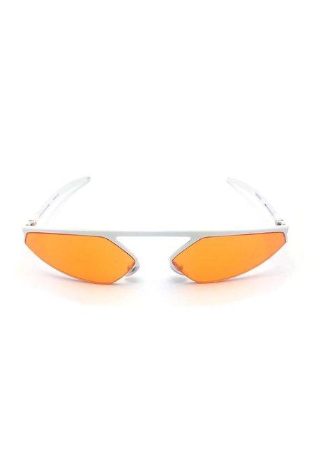 CHRISHABANA The Blade Sunglasses - White/Orange