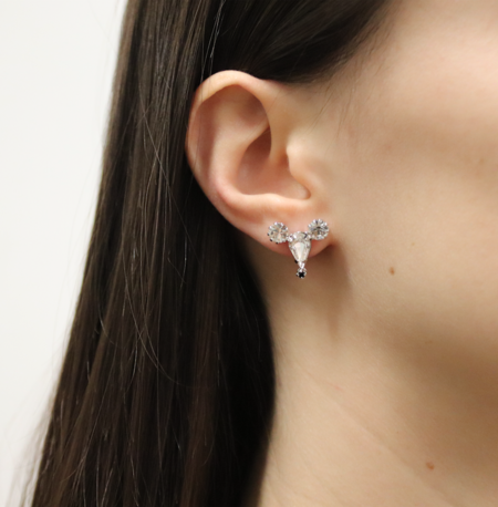 Joomi Lim Small Crystal Mouse Earrings