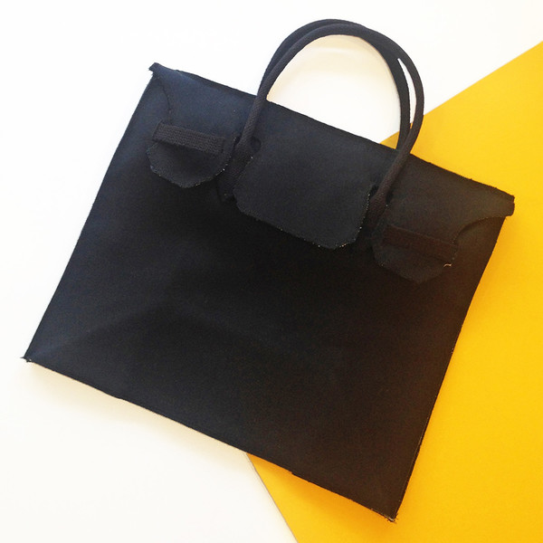 Slow and Steady Wins the Race Rectangular Bag in Black