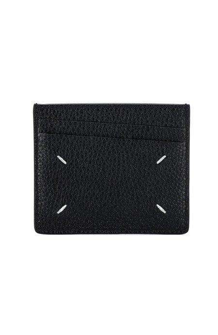 Maison Margiela Leather Card Case - black