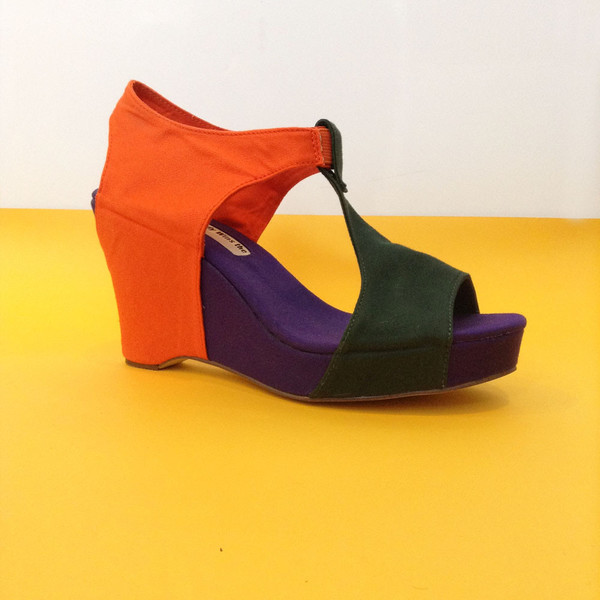 Slow and Steady Wins the Race Wedge Sandal in Tri-Color