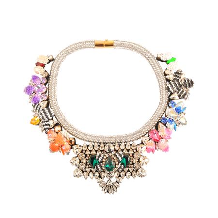 Shourouk collar bees necklace swarovski crystals