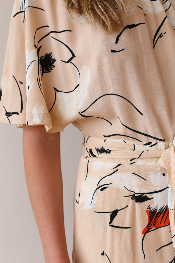 Ganni Akina Crepe Dress