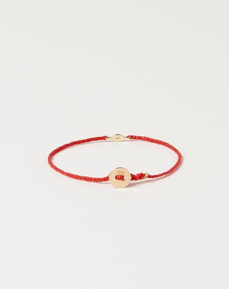 Scosha Gold Tiny Evil Eye Bracelet - Scarlet