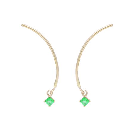 Tara 4779 Arc Mobile Earrings - Emerald