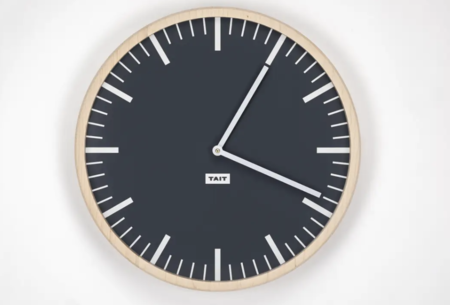 Tait Design Co. Slate solid maple and aluminum wall clock