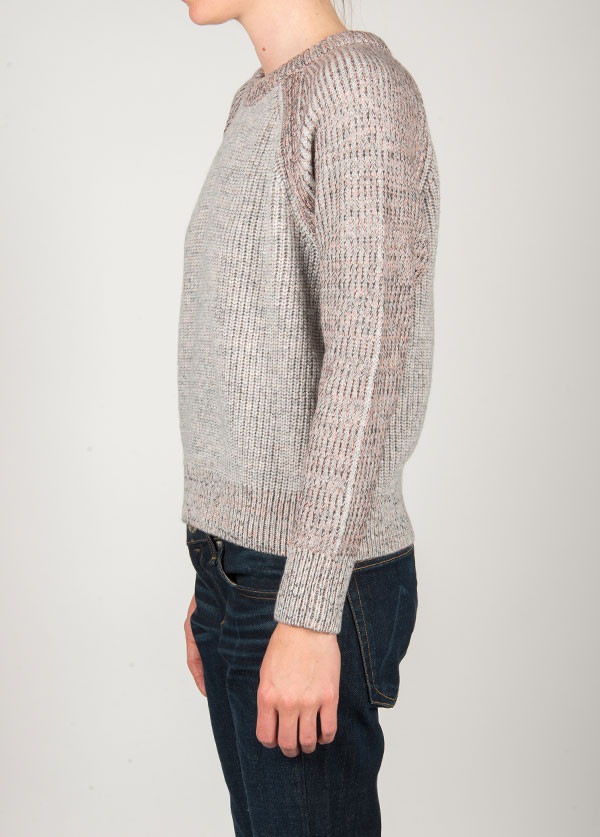 Rag & Bone - Addison Pullover in Light Grey Melange