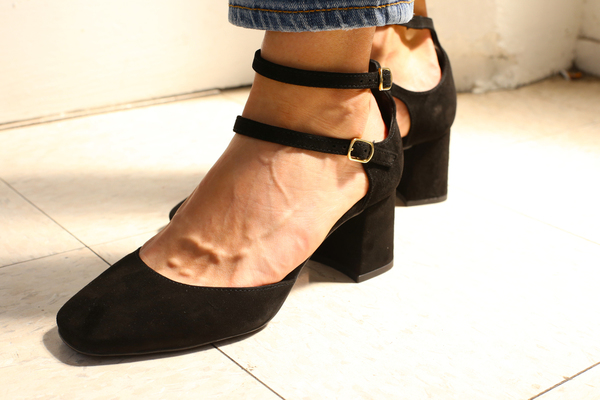 Intentionally Blank HOLLY BLACK SUEDE