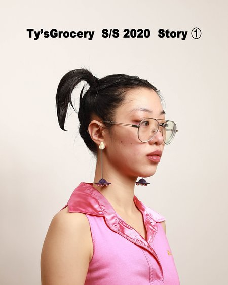 Ty's Grocery Flying Spaceship Earring