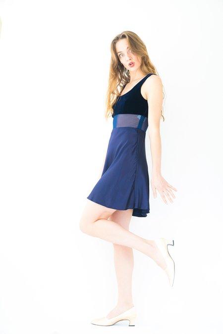 Backtalk PDX Vintage Holiday Dress - Deep Blue