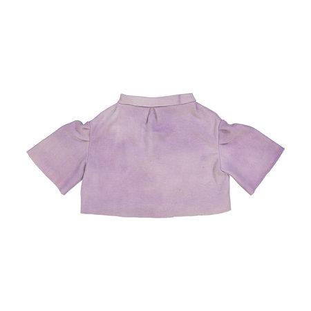 Kids Petit Mioche Organic Embroidered Merino Wool Shirt - Dove
